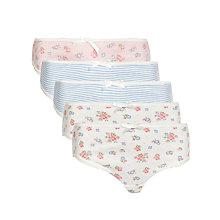Buy John Lewis Girl Vintage Floral Briefs, Pack of 5 Online at johnlewis.com