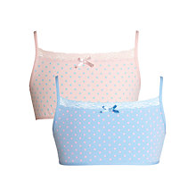 Buy John Lewis Girl Spotty Crop Tops, Pack of 2, Multi Online at johnlewis.com