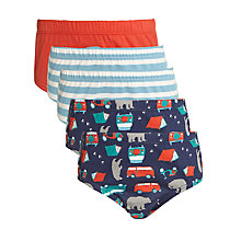 Buy John Lewis Boy Camper Van Briefs, Pack of 5, Multi Online at johnlewis.com