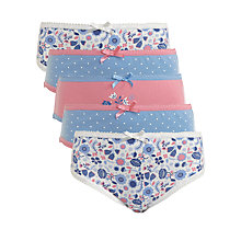 Buy John Lewis Girl Pastel Floral Briefs, Pack of 5 Online at johnlewis.com