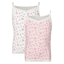 Buy John Lewis Girl Vintage Floral Camisoles, Pack of 2 Online at johnlewis.com