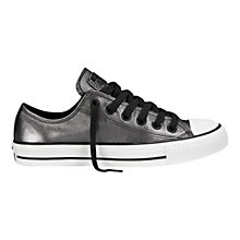 Buy Converse Chuck Taylor All Stars Shift Leather Trainers, Silver Online at johnlewis.com
