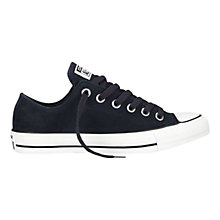 Buy Converse Chuck Taylor All Stars Ox Low-Top Suede Trainers, Navy Online at johnlewis.com