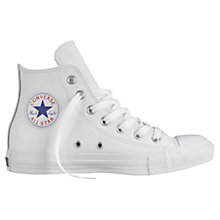 Buy Converse Chuck Taylor All Star Hi-Top Leather Trainers, White Online at johnlewis.com