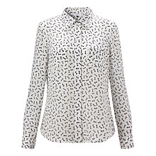 Buy COLLECTION by John Lewis Bow Print Silk Blouse, Ivory Online at johnlewis.com