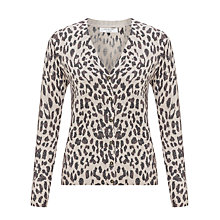 Buy COLLECTION by John Lewis Lurex Animal Print Cardigan, Neutral Online at johnlewis.com