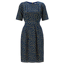 Buy COLLECTION by John Lewis Bow Print Silk Dress, Navy Online at johnlewis.com