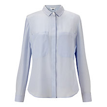Buy COLLECTION by John Lewis Silk Pocket Blouse, Pale Blue Online at johnlewis.com