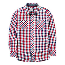 Buy Crew Clothing Boys' Leon Brushed Check Shirt, Red/Navy Online at johnlewis.com