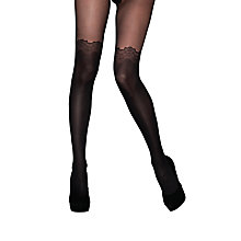 Buy Jonathan Aston Bewitched Over The Knee Tights, Black Online at johnlewis.com