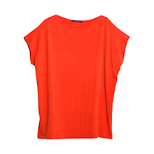Buy Violeta by Mango Flowy T-Shirt, Bright Orange Online at johnlewis.com
