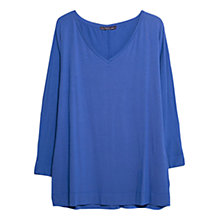 Buy Violeta by Mango Flowy V-Neck T-Shirt Online at johnlewis.com