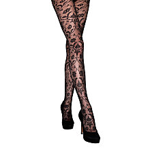 Buy Jonathon Aston Spellbound Lace Tights, Black Online at johnlewis.com