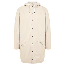 Buy Rains Long Waterproof Windbreaker Jacket, Stone Online at johnlewis.com