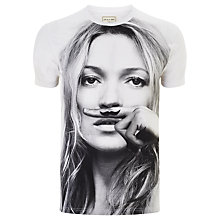 Buy Eleven Paris Kate Moss Moustache T-Shirt, White Online at johnlewis.com