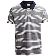 Buy Selected Homme Prestan Multi Stripe Polo Shirt, Navy Blazer Online at johnlewis.com