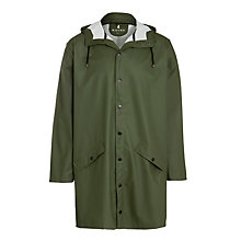 Buy Rains Long Jacket, Khaki Online at johnlewis.com