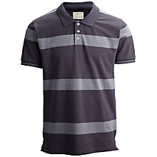 Buy Selected Homme Prestan Block Stripe Polo Shirt, Ombre Blue Online at johnlewis.com