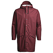 Buy Rains Long Rain Jacket, Bordeaux Online at johnlewis.com
