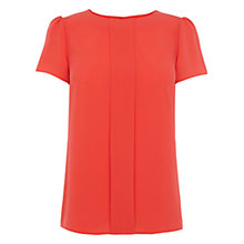 Buy Oasis Jenny Crepe Top, Mid Orange Online at johnlewis.com