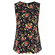 Buy Oasis Garden Floral Print Shell Top, Multi/Black Online at johnlewis.com