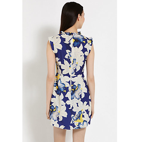 Buy Oasis Lily Kimono Dress, Blue/Multi Online at johnlewis.com