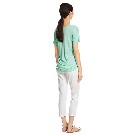 Buy Mint Velvet V-front T-shirt, Mint Online at johnlewis.com
