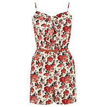 Buy Oasis Utility Rose Playsuit, Light Neutral Online at johnlewis.com