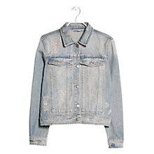 Buy Mango Light Denim Jacket, Light Pastel Blue Online at johnlewis.com