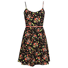 Buy Oasis Garden Floral Skater Dress, Multi/Black Online at johnlewis.com