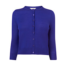 Buy L.K. Bennett Bonnie Crew Neck Cardigan, Ultra Blue Online at johnlewis.com