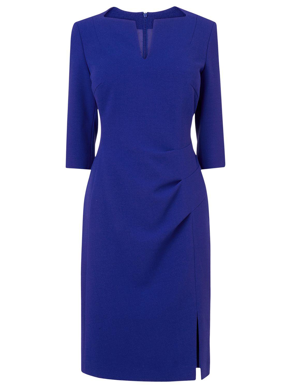 L.K. Bennett Kiel Pleat Dress, Ultra Blue