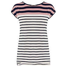 Buy Oasis Breton Stripe T-Shirt, Multi/Natural Online at johnlewis.com