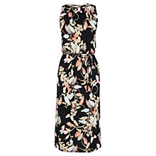 Buy Oasis Shadow Butterfly Midi Dress, Multi/Black Online at johnlewis.com
