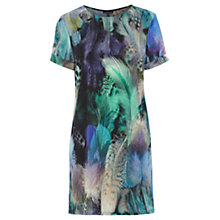 Buy Warehouse Feather Print Tunic Dress, Multi Online at johnlewis.com