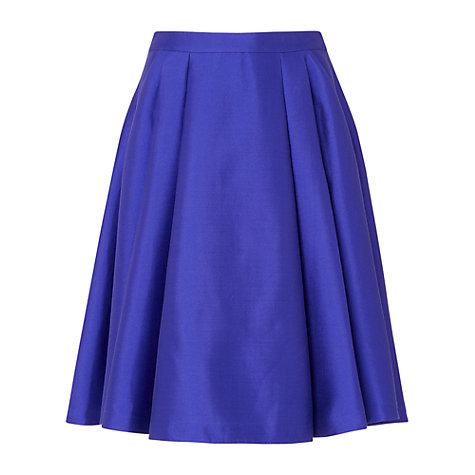 L.K. Bennett Lutea Full Pleated Skirt, Blue