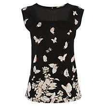 Buy Oasis Kimono Border Shell Top, Multi/Black Online at johnlewis.com