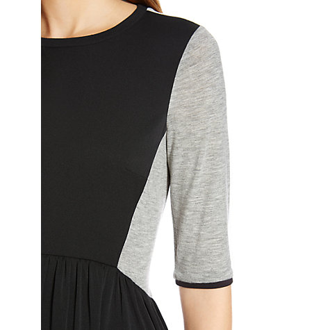Buy Warehouse Jersey Paneled Skater Dress, Black Online at johnlewis.com