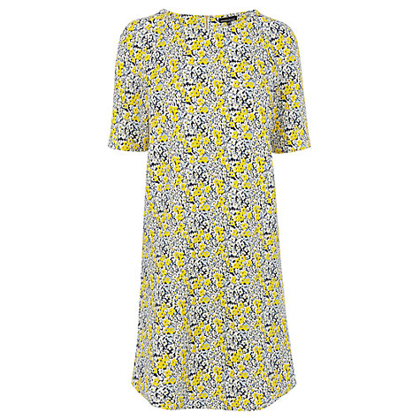 Buy Warehouse Floral Textured Crepe Shift Dress, Multi Online at johnlewis.com