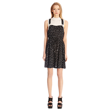 Buy Warehouse Triangle Print Dungaree Dress, Multi Online at johnlewis.com