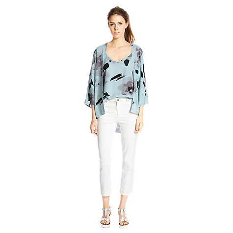 Buy Warehouse Blurred Floral Kimono Jacket, Multi Online at johnlewis.com