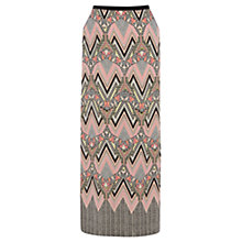 Buy Warehouse Engineered Tribal Maxi Skirt, Multi Online at johnlewis.com
