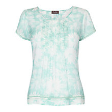 Buy Phase Eight Betsy Floral Blouse, Menthe/White Online at johnlewis.com