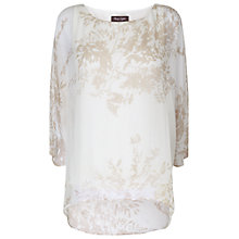 Buy Phase Eight Lucille Silk Print Blouse, Ivory/Stone Online at johnlewis.com