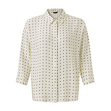 Buy Jigsaw Polka Dot Shirt, Cream Online at johnlewis.com