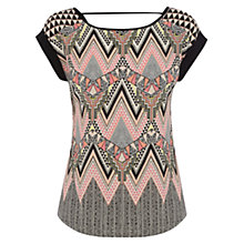 Buy Warehouse Engineered Tribal Tee Shirt, Multi Online at johnlewis.com