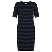 Buy Jigsaw Textured Stripe Column Dress, Blue Online at johnlewis.com