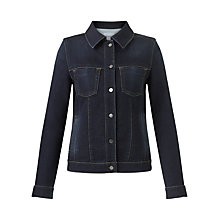 Buy Jigsaw Knitted Denim Jacket, Indigo Online at johnlewis.com
