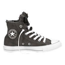 Buy Converse Chuck Taylor All Stars Leather Hi-Top Trainers, Charcoal Online at johnlewis.com