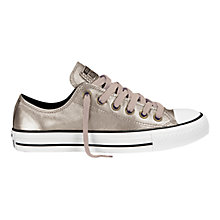 Buy Converse Chuck Taylor All Star Leather Ox Trainers, Gold Online at johnlewis.com